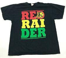 Vintage Kahuku Rouge Raiders Chemise Taille L Noir T-Shirt Adulte Double Face
