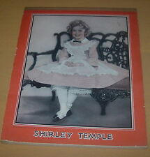SHIRLEY TEMPLE  NOTE BOOK PAD TABLET  1935  VINTAGE  NOTEPAD NOTEBOOK