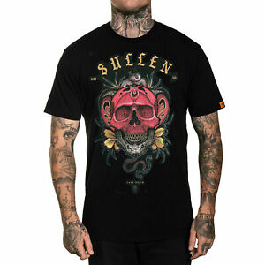 Sullen Men/'s Neptune Short Sleeve T-shirt with Skull and Octopus Tattoo Artwork