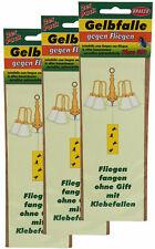 6 x Gelbfalle gegen Fliegen zum Hängen, Gelbsticker, Leimfalle, Klebefalle