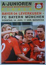 Programm Finale A Junioren 24.6.2007 Bayer 04 Leverkusen - Bayern München