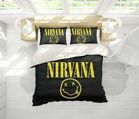 3D Nirvana Rock Band Quilt Cover Sets Pillowcases Duvet Comforter Cover B18