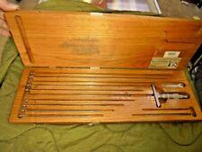 Vintage Scherr Tumico Depth Micrometer Gage Nsn5210008265368 Bc 2433b