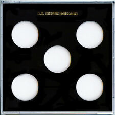"Capital Plastic Galaxy 6.5""x 6.5"" - 5-Coin Holder U.S. Silver Dollars - Black"