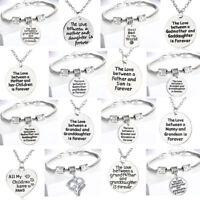 Love Between Mother Daughter Son Grandma Bracelet Pendants Necklace Family Gifts