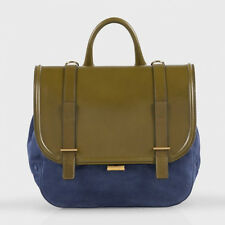 PAUL SMITH BLUE SUEDE & GREEN CALF LEATHER FESTIVAL BAG/SATCHEL RETAIL £750 BNWT