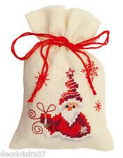Vervaco 0144326 Sacchetto Santa con Regalo Ricamo contato