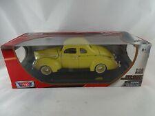 1:18 Motor Max 1940 Ford Deluxe gelb Rarität