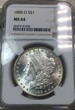 1885-O $1 Morgan Silver Dollar - NGC MS-64