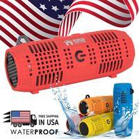 EMB Rechargeable Portable Waterproof Black , Bluetooth Speaker Wireless Bass USA