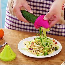 Spiral Slicer Cutter Kitchen Tool Vegetable Fruit Spiralizer Twister Peeler UK