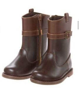 Gymboree Plum Pony Girls Brown Riding Boots Horse Back To Blooms Nwt size 4
