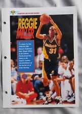Reggie Miller Indiana Pacers Champions & Record Holders Sports Heroes Sheet