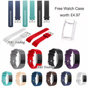 Replacement Watch Strap for Fitbit Charge 2 Band Bracelet Silicone UK - 2 Sizes