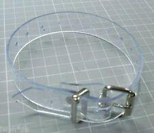 4 transparente PVC-Riemen glasklar 2,0 x 35,0 cm lang Fixierungsriemen von LWPH