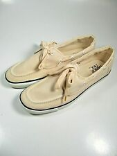 Harbor Tack Mens Cloth Shoes 11 Light Coral & White Loafers-NEW with tag