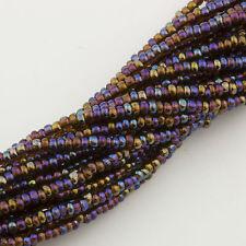 Vintage Seed Beads Charlotte / Ture Cut 13/0 Trans. Brown AB 1 hank 13g 10611008