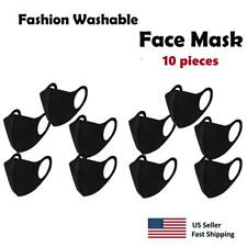10 pack - Black Face Mask , Washable, Reusable, Unisex, Free Same Day Shipping