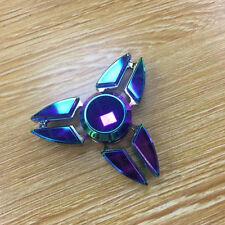 Aluminium Hand Spinner Tri Fidget Fingerspitze Gyro Schreibtisch Spielzeug EDC