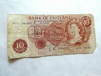 1966 - 1970 Bank Of England (10) Shillings Note