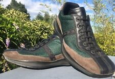 Vintage 90s PRADA Leather Sneakers Sport Outdoor Running Men Shoes 6 Wide 4E1111