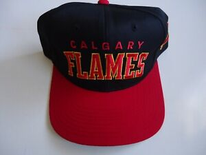 *NEW* Vintage Calgary Flames NHL Cap by Starter.  Made in Korea.