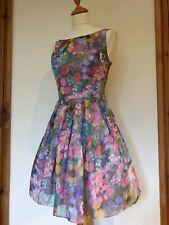Vestido De Fiesta Monsoon Floral Ocasión Especial. Net refajos. Talla 8
