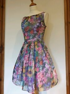 Monsoon Floral Special Occasion Party Dress. Net Underskirts. Size 8