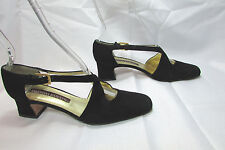 Women's  Valentina Rangoni Black Chunky Heel Shoes Pumps Size US 7.5 AAA