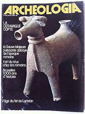 Archéologia n°138; La céramique Copte/ l'art du stuc chez les Romains/ Bruxelles