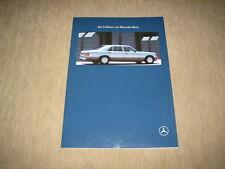 MERCEDES CLASSE S BERLINA w126 PROSPEKT BROCHURE DI 8/1990, 44 pagine
