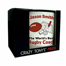Worlds Best Rugby Coach Gift Mug Personalised Thank You Gifts For Rugby Coaches
