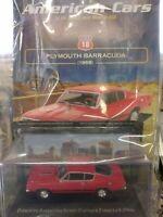 PLYMOUTH BARRACUDA SPORTS FASTBACK FORMULA S 1968 AMERICAN CARS C. #18 MIB 1:43