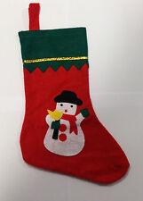 Fieltro Christmas Stocking-Muñeco De Nieve