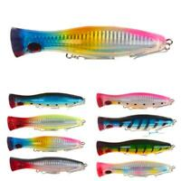 1pc Big Mouth Popper Lure Top Water Fishing Lure 12cm 40g Big Trolling Game A2P4