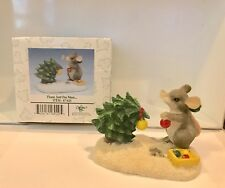 Vintage Charming Tails Please Just One More Mouse Christmas Tree Figurine 87/625