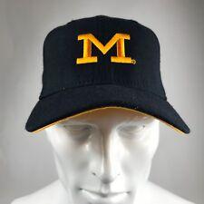 New Era University of Michigan Blue Fitted Cap sz. 7 1/8 EUC