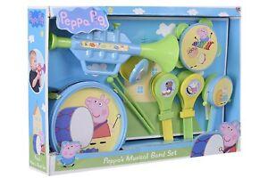 Brand New 10 Pieces Peppa Pig Musical Band, tea set, cash register