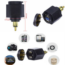 Dual USB 4.2A Charger Adapter Waterproof Cap LED Voltmeter for BMW Motorcycle