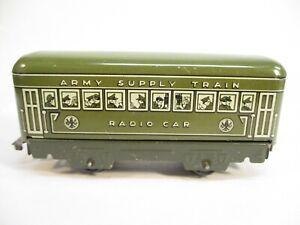 Marx 557M Radio Car for Army Supply Train Tin Litho O Gauge X4461