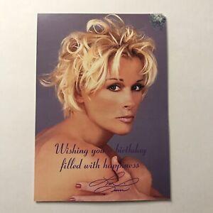 Lorrie Morgan Fan Club Postcard Happy Birthday Promo 4.25 x 6 Inch Vtg 1999