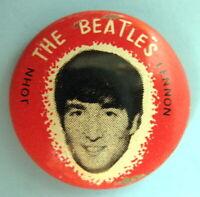 JOHN LENNON BEATLES ORIGINAL 1964 PINBACK BUTTON #365