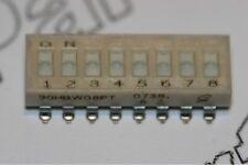 90HBW08PT Interruptor de 8 vías Grayhill Dil diapositiva SPST bajo perfil SMD