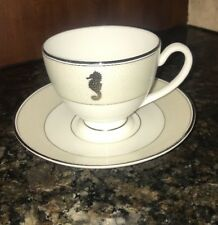 Waterford Seahorse Ivory Teacup & Saucer