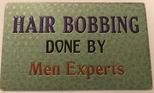 1930s Hair Bobbing Done By Mae Experts Barber Shop Sign
