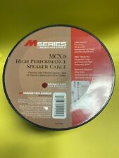 Monster Cable M-Series MCX1s Premium Speaker-Cable-Wire 30ft 9.14m New