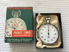 Swiss Made Chesterfield 1/5 Antimagnetic Mechanical Wind Up Stopwatch