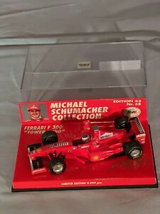 Michael Schumacher Collection Nr 38, 1998 Ferrari F300 Towerwing,1:43 Minichamps