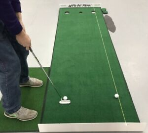 """Michael Breed """"LETS DO THIS """" Training Green By Big Moss Golf  3'x10' LOOK!"""