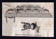 Paracadute automatico e guida-tensione di sicurezza Incisione del 1869